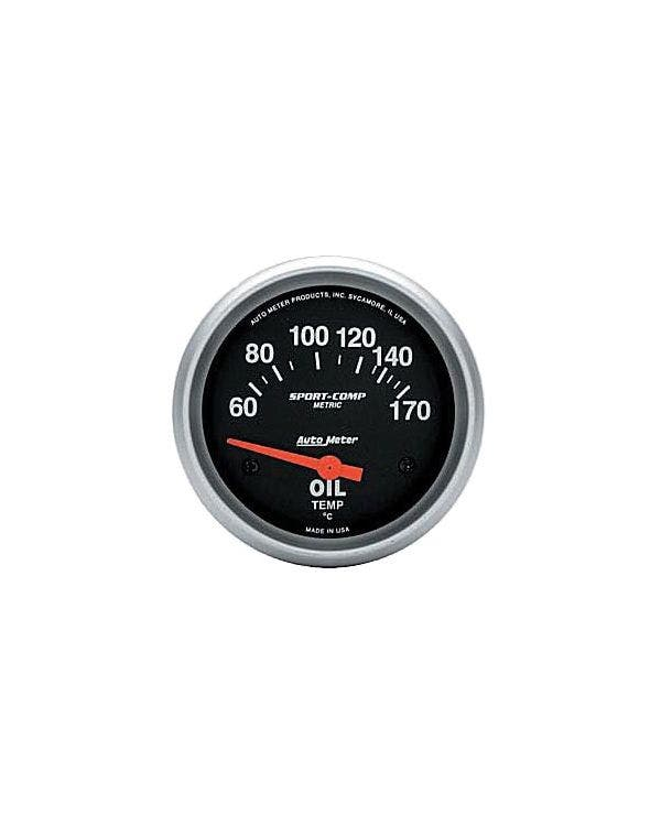 Autometer Sport Comp Oil Temperature Gauge 60-170C  with Sender 2 5/8 Inch