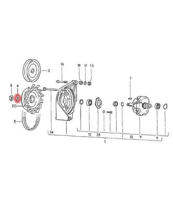 Washer for Alternator 1700-2000cc