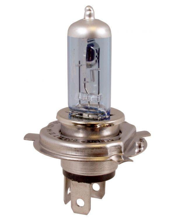 Glühbirne, Halogen-Scheinwerfer, Kobaltblau, 12 V, 60/55 W, H4