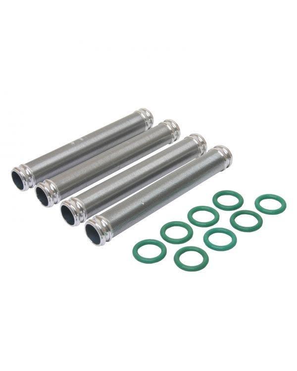 Ölrücklaufrohr-Set aus geripptem Aluminium