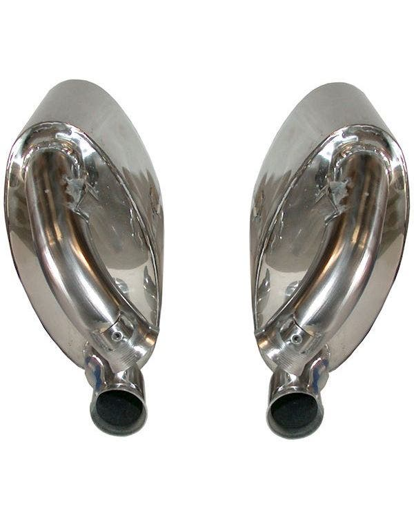Sports Stainelss Steel Exhaust Rear Silencer Set