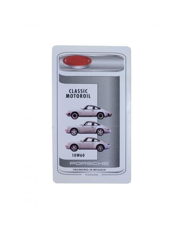 Porsche Classic Oil Type Sticker for Engine Bay 10W-60
