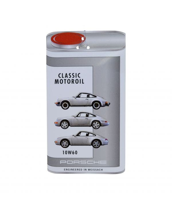Porsche Classic Oil Change Label 10W-60