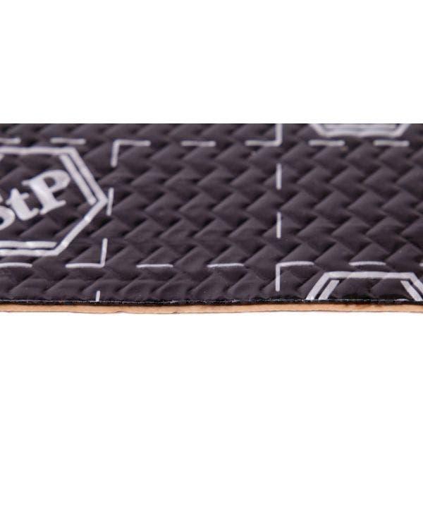 Amortiguadores de sonido STP, negro y plateado, 8 hojas, 375mm x 265mm