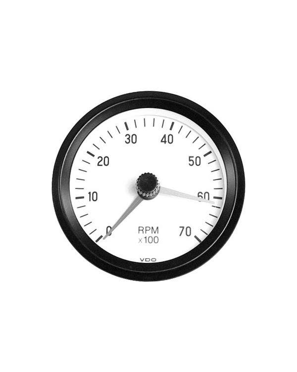VDO Cockpit Tachometer 7000RPM 80mm White
