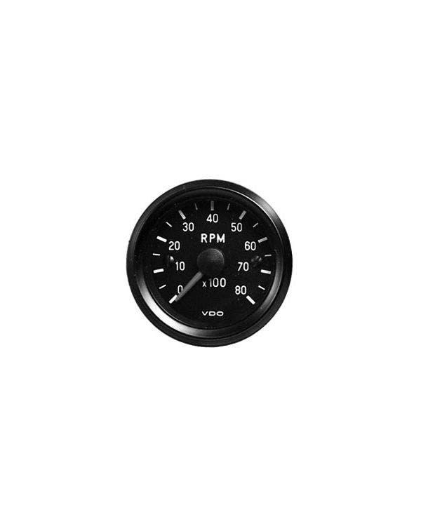 VDO Cockpit Tachometer 8000RPM 52mm Black