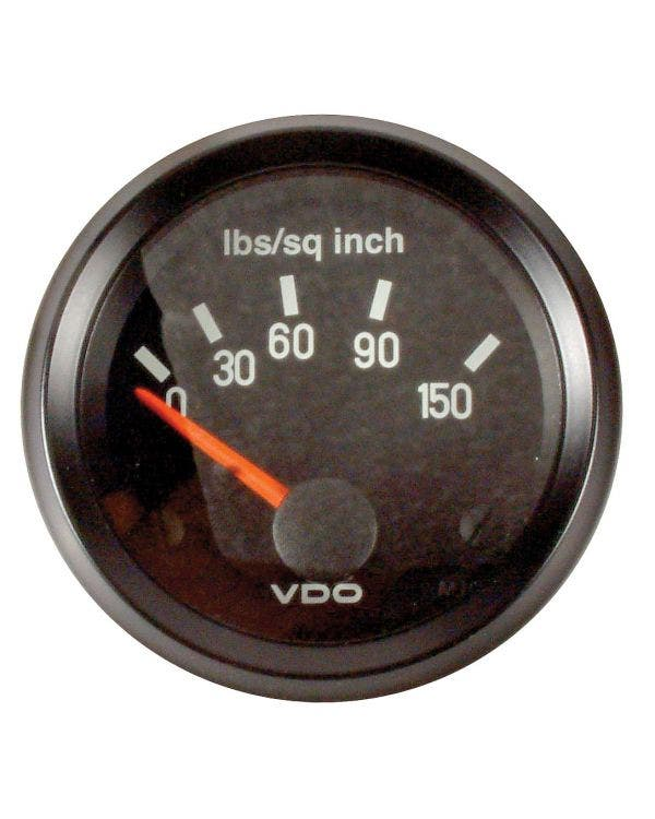VDO Cockpit Oil Pressure Gauge 150PSI 52mm Black