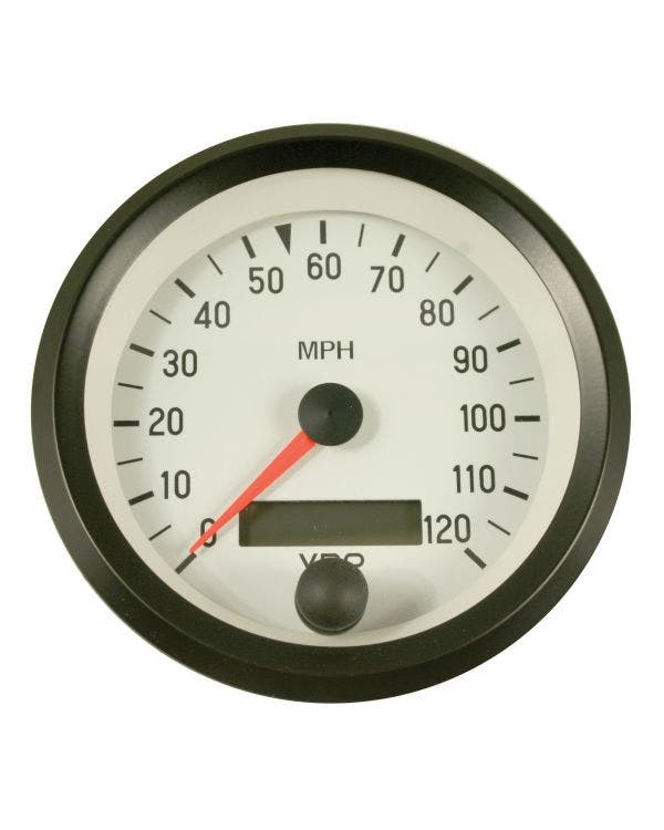 VDO Cockpit Speedometer 120 MPH 86mm White