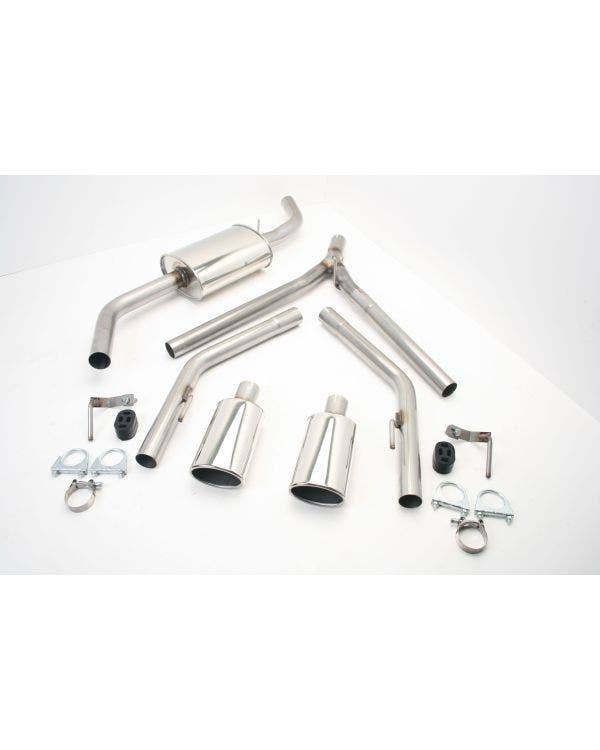 Stainless Steel Exhaust with Twin Single Oval Tailpipes for Long Wheel Base