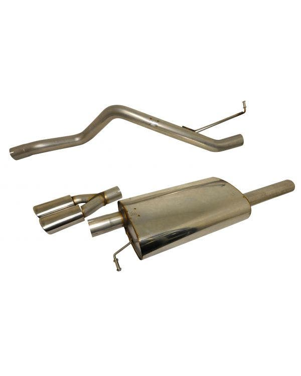 Milltek Cat-Back Exhaust System Resonated (quieter) Finished with a Twin Special Oval Outlet for SWB