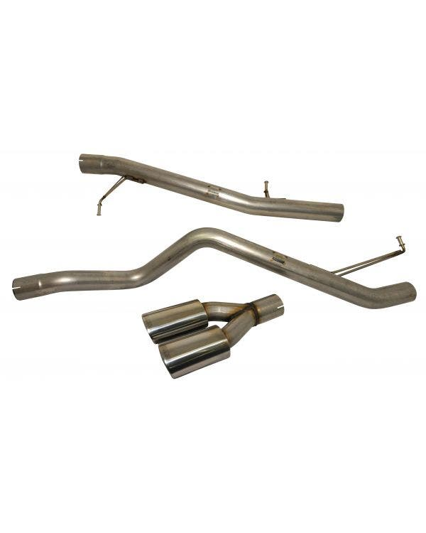 Milltek Cat-Back Exhaust System Non-Resonated (Louder) Finished with Twin Special Oval Outlet for SWB