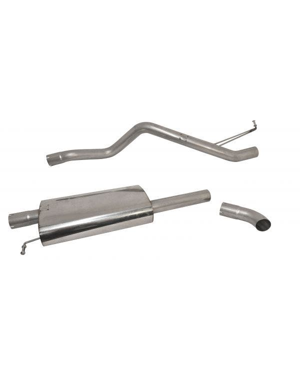 Milltek Cat-Back Exhaust System Resonated (Quieter) Finished with a Single Discrete Outlet for SWB