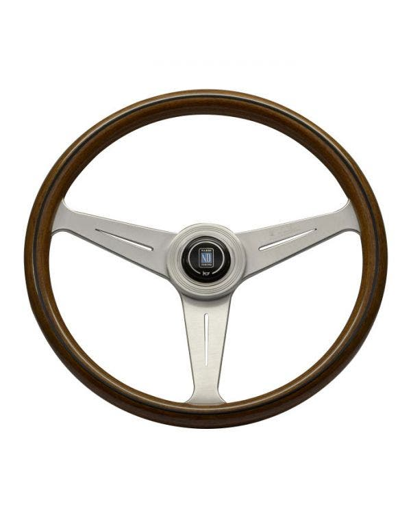 Nardi Classic Steering Wheel, Wood Rim with Satin Spokes 390mm