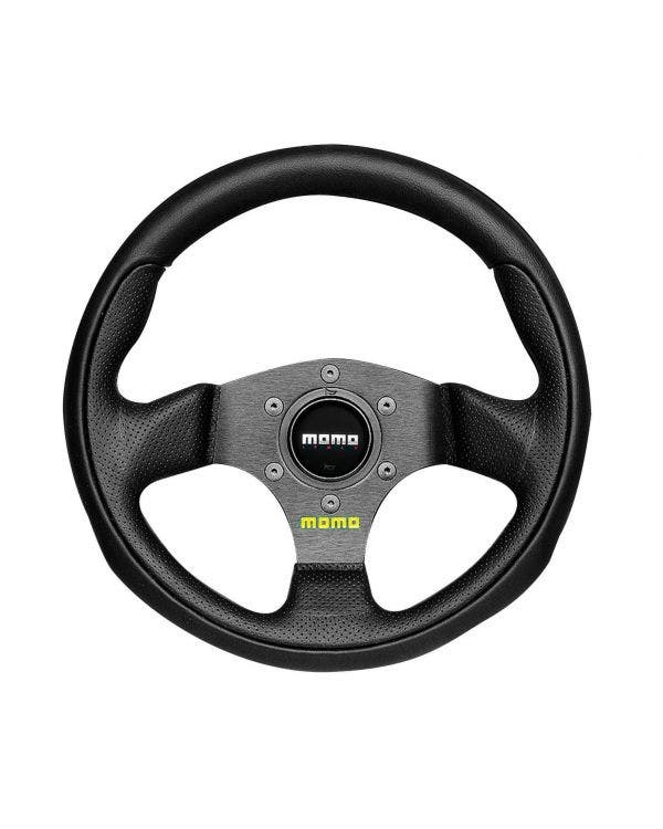 Momo Team Steering Wheel, Black Leather with Black Centre 280mm