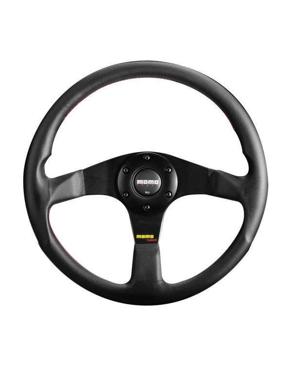Momo Millennium Steering Wheel, Black Leather with Black Centre 320mm