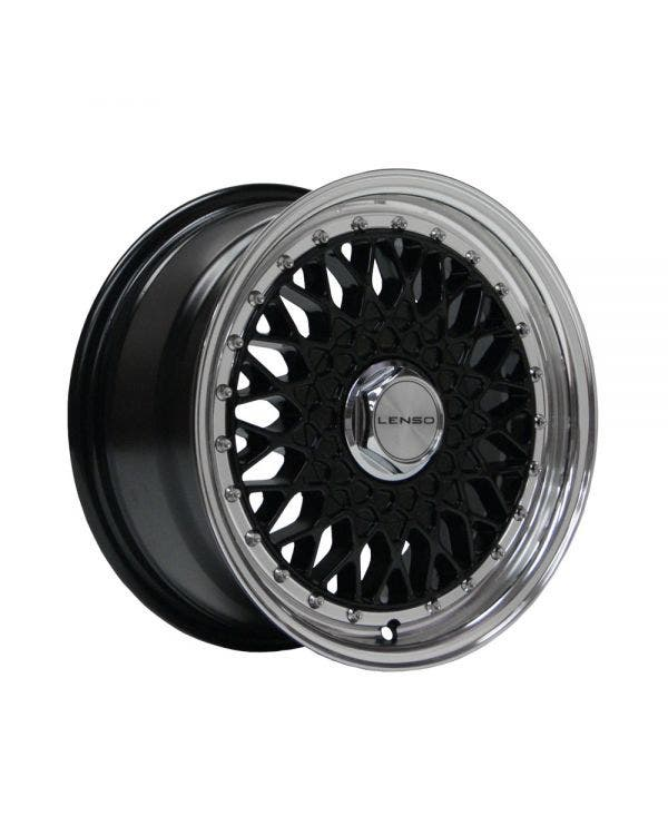Lenso BSX Alloy Wheel 7Jx15'' ET20 4x100 Stud Pattern Black Polished