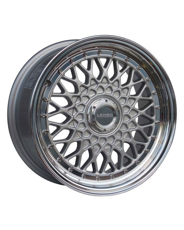 Lenso BSX Alloy Wheel 7Jx15'' ET20 4x100 Stud Pattern Silver Polished