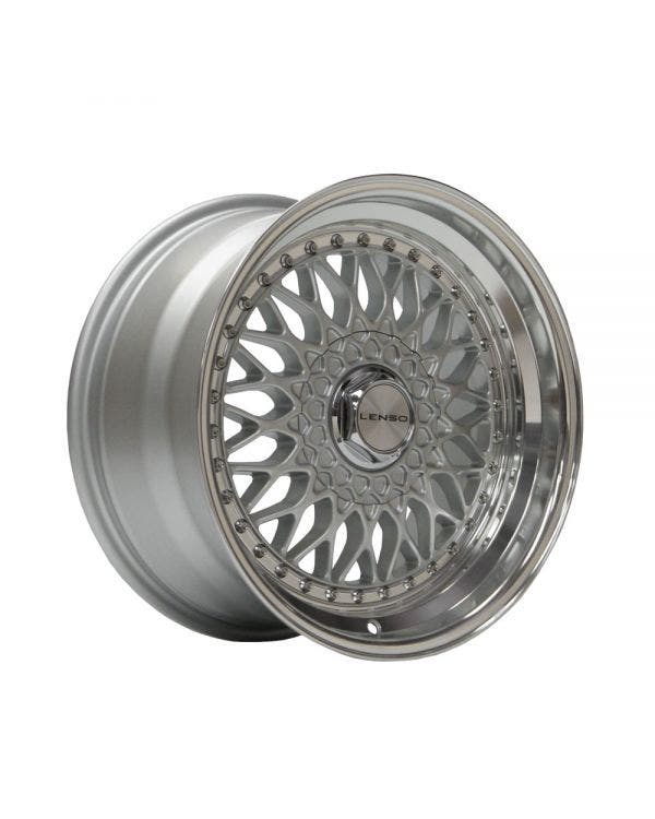 Lenso BSX Alloy Wheel 9Jx16'' ET20 4x100 Stud Pattern Silver Polished