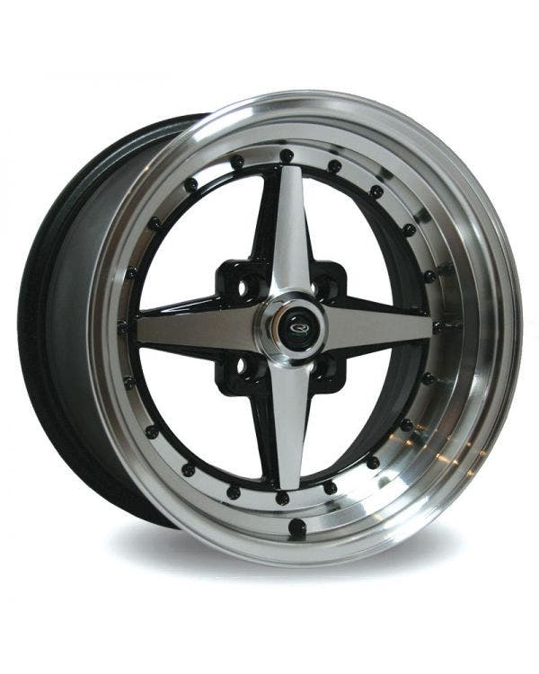 Rota Zero Plus Alloy Wheel 8Jx15'' ET10 4x100 Stud Pattern Black Polished