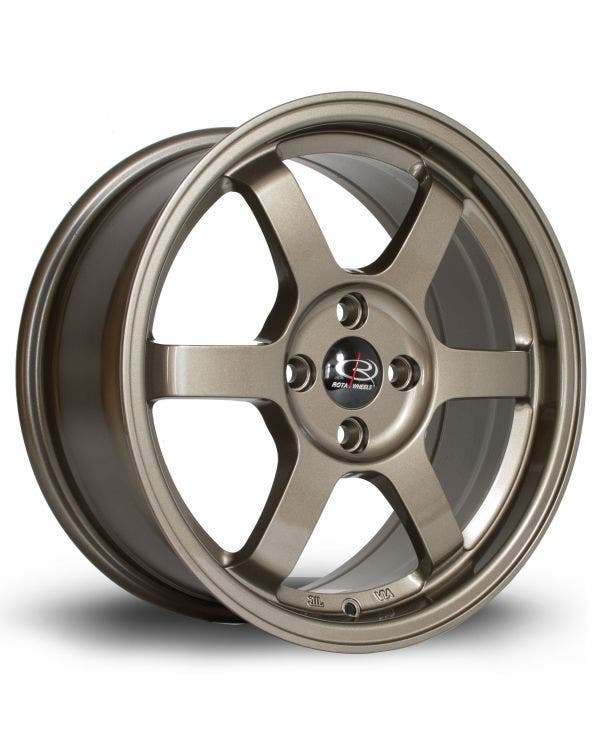Rota Grid Alloy Wheel 7Jx16'' ET40 4x100 Stud Pattern Bronze