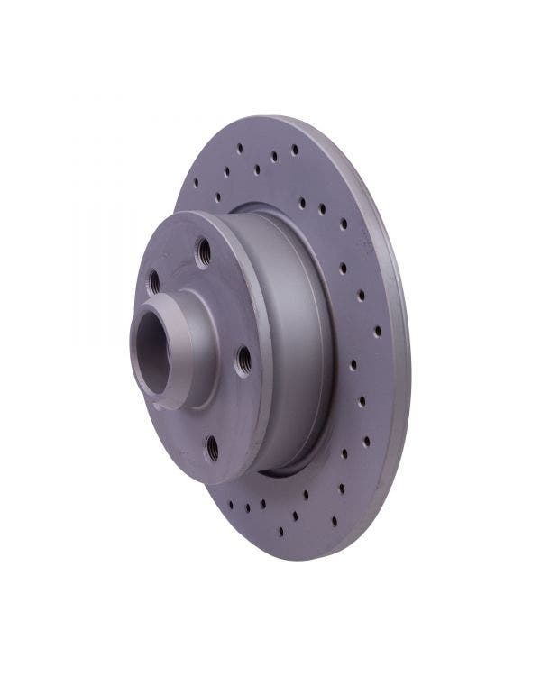 Sport Cross-Drilled Solid Rear Brake Discs 226x10mm