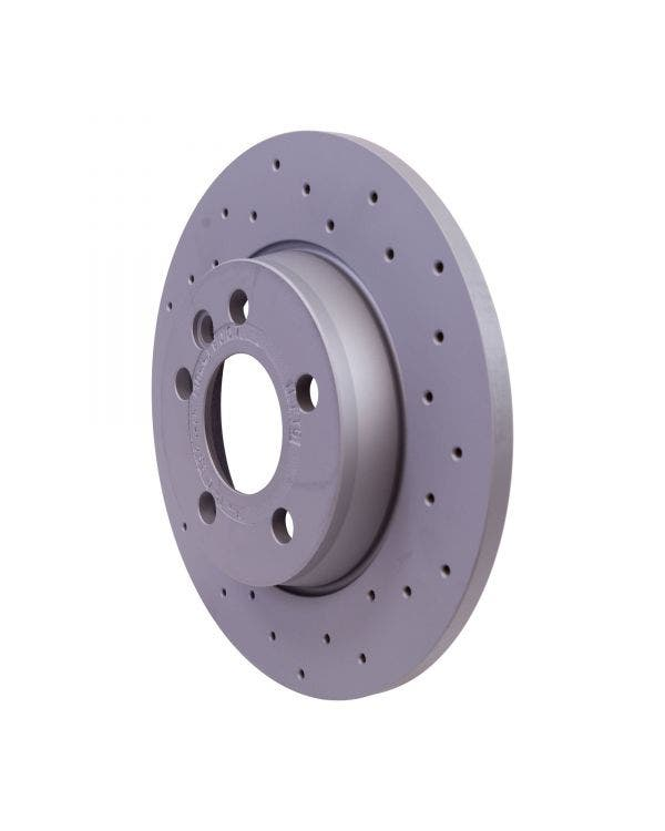Sport Cross-Drilled Solid Rear Brake Rotors 280x12mm PR- Code 2E2