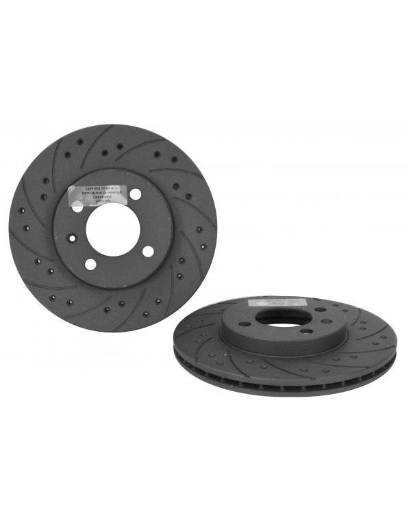 Black Diamond Front Brake Discs 256x20mm Vented Grooved Pair