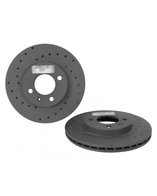 Black Diamond Front Brake Discs 256x20mm Vented Drilled Pair