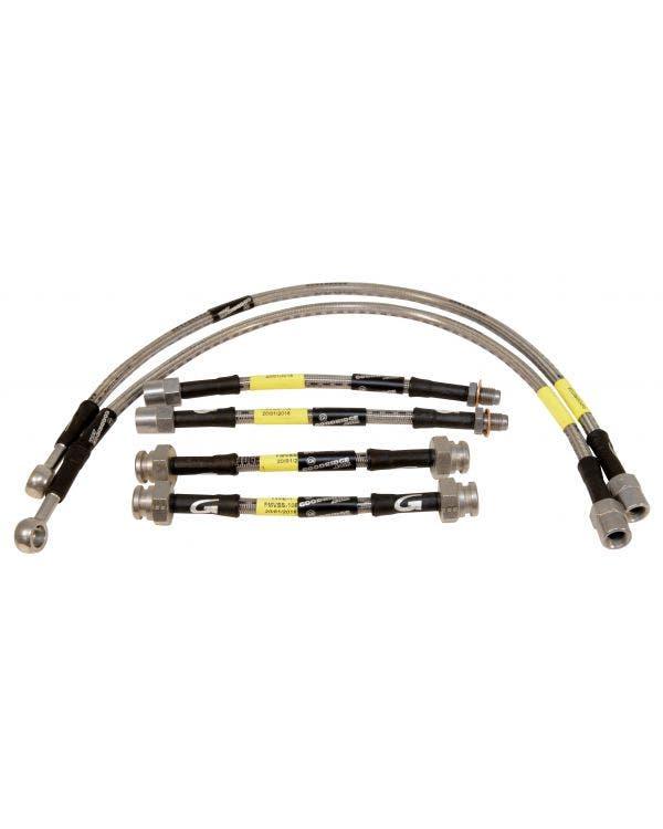 Goodridge Stainless Steel Braided Brake Hose Kit VR6 and GTI