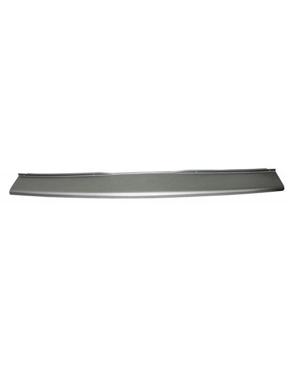 Stufenschutz für dieHeckstoßstange, im gebürsteten Aluminium-Look