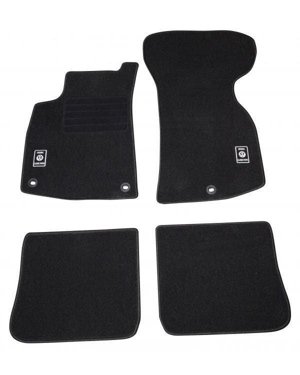 Carpet Mat Set for Left Hand Drive Black 4Pieces