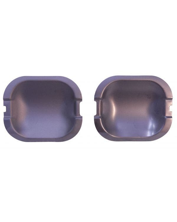 Armoured Door Handle Plates in Black