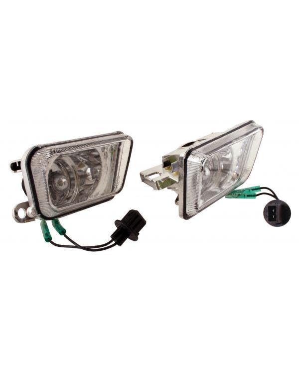 Front Fog Lights in Clear Crystal for Big Bumper Model Pair