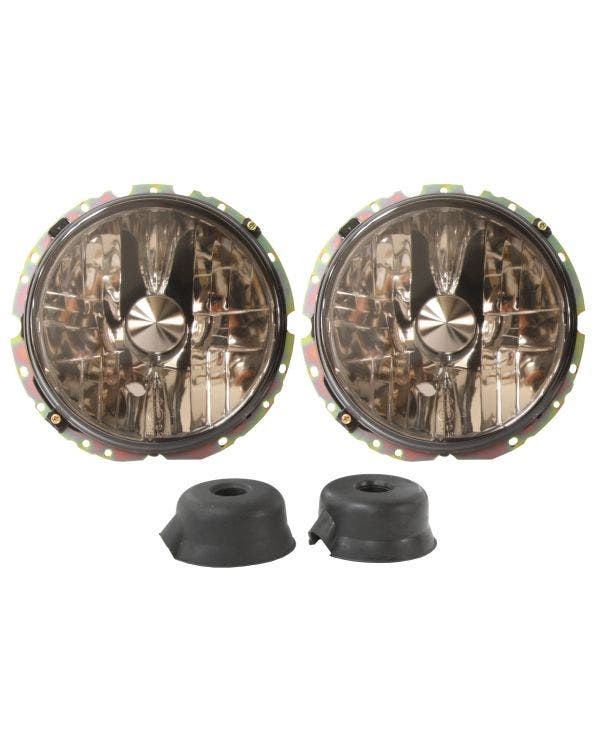 Headlights Smoked Crystal for Right Hand Drive