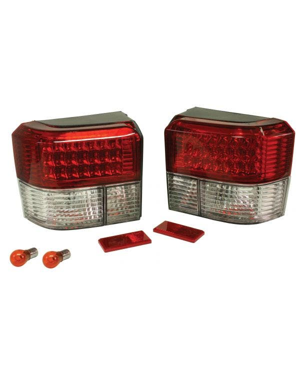 Rear Light Set in Clear and Red with LEDs
