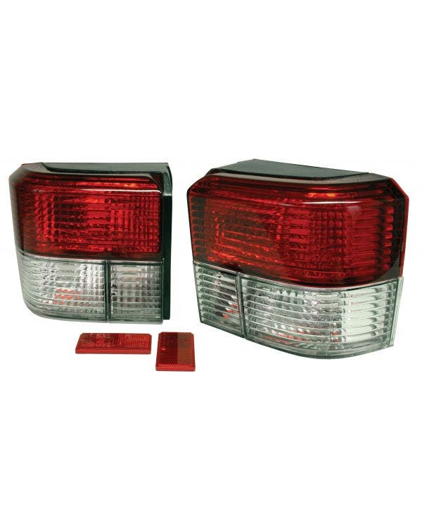 Rear Light Set in Crystal Clear and Red