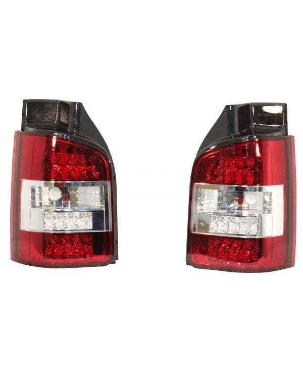 Rear Light Set in Crystal Clear and Red for Barn Door Model