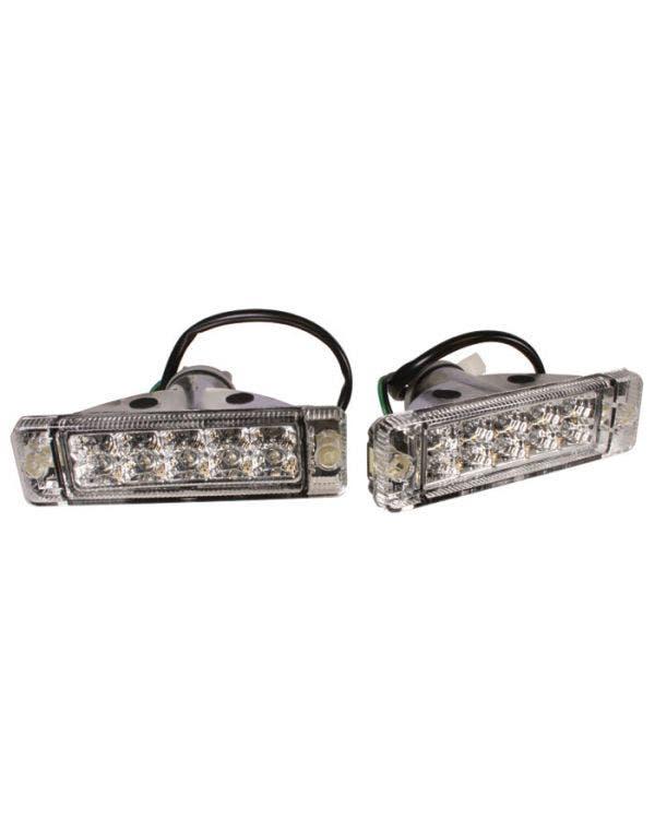 Intermitentes delantero, Golf (paragolpes pequeño), Transparente LED, pareja