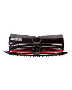 Front Grille in Gloss Black with Red Trims