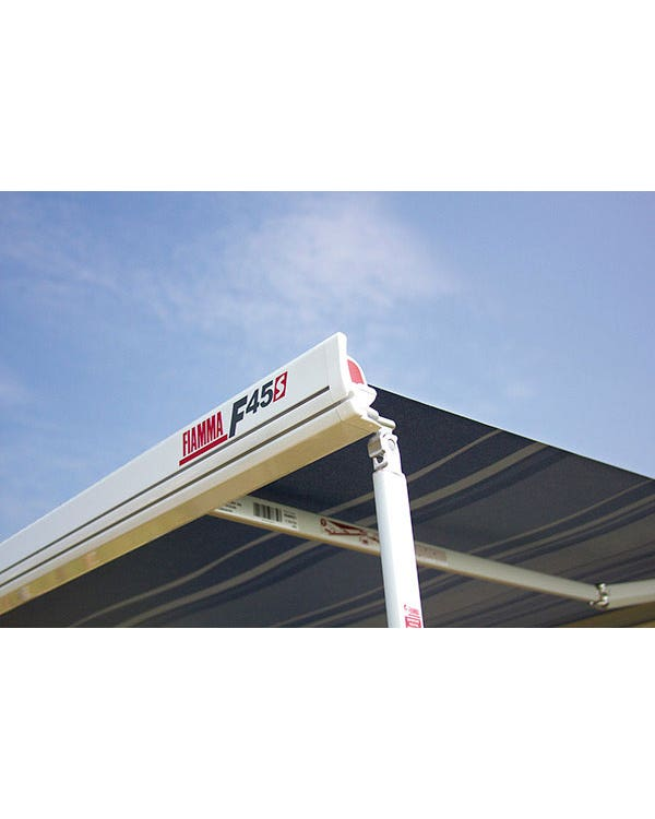 Fiamma F45S 260 Roll Out Awning In Polar White With Grey Canopy
