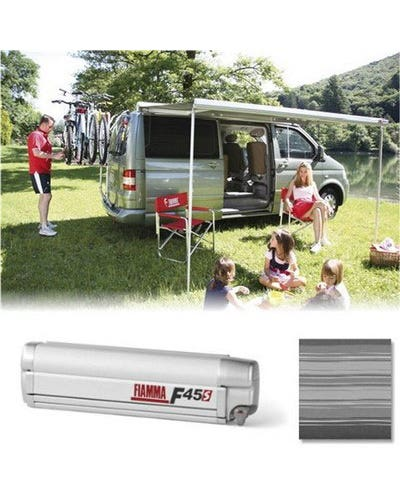 Fiamma F45S 260 Roll Out Awning for Multivan LHD in Titanium/Grey inc Adapters