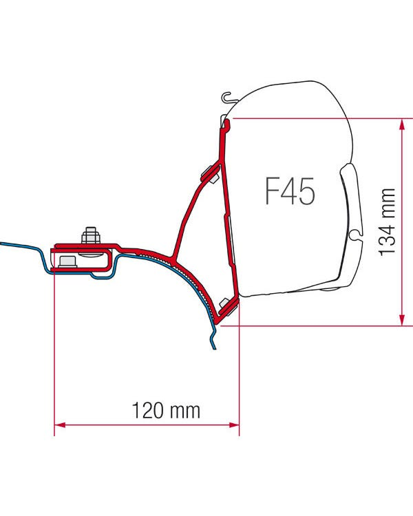 Fiamma F45 Adapters for T5 RHD without C-Rail