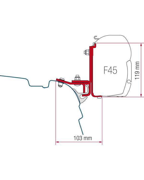 Fiamma F45 Adapters T5 with Reimo Multi Rail
