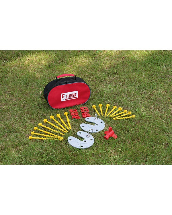 Fiamma Awning Screw Peg/Plate Kit in Carry Bag