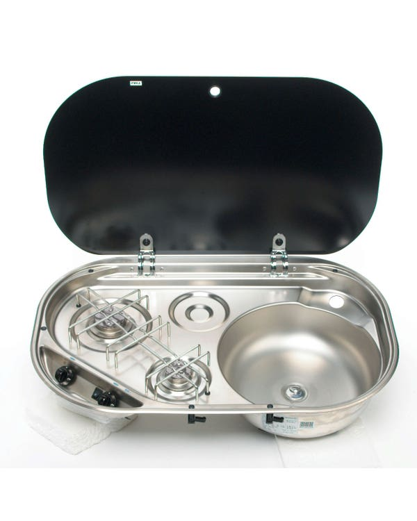Dometic Smev Sink/Hob Combi MO8322R Twin Burner Sink On Right