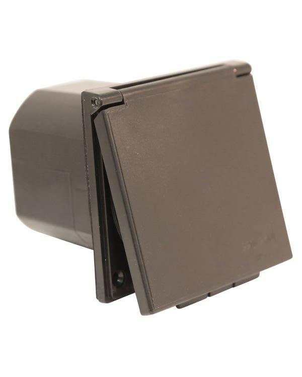 Hook Up Inlet Flush Fit Straight Black