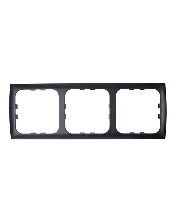 C-Line CS Three Way Faceplate Black