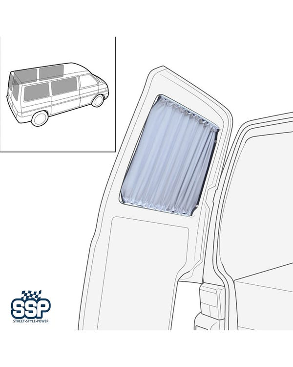 Curtain Set 6 Piece for Short Wheel Base (4x Sides, 2x Barndoors)