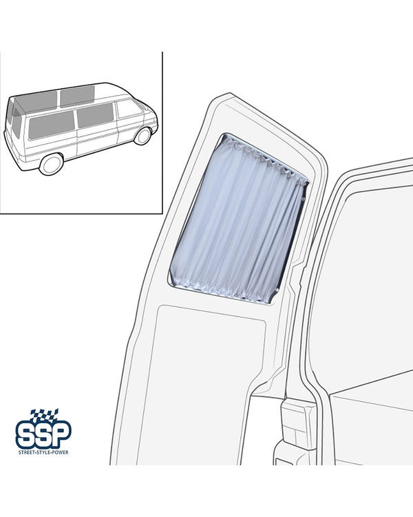 Curtain Set 6 Piece for Long Wheel Base (4x Sides, 2x Barndoors)