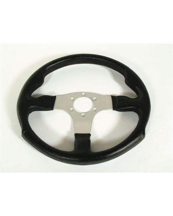 Volante, Negro/Pulido, Vinilo, (340mm) M Series